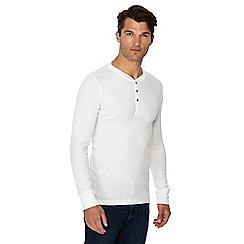 Levi's - White regular fit long sleeve Henley top