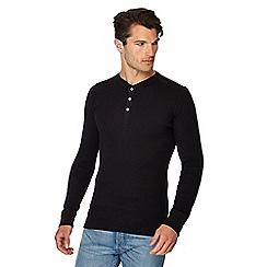 Levi's - Navy regular fit long sleeve Henley top