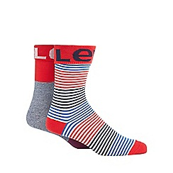 Levi's - 2 pack red striped ankle socks