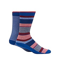 Levi's - 2 pack assorted plain and striped socks