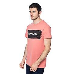 G-Star - Light pink logo print t-shirt