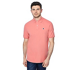 G-Star - Light pink logo detail polo shirt