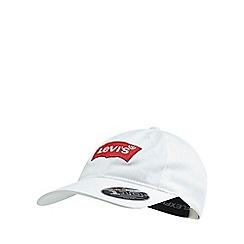 Levi's - White 'Batwing' logo baseball cap