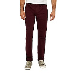 Levi's - Red dark wash '514' 'Mulled Wine' straight fit jeans