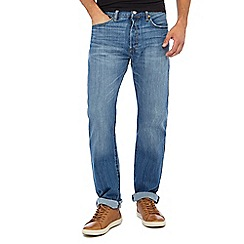 Levi's - Big and tall blue cool light wash '501' straight fit jeans