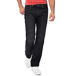 Levi's - Big and tall black '501' 'Airdry black wrap' mid wash straight leg jeans
