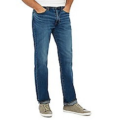 Levi's - Big and tall blue mid wash '514' 'brick road' straight fit jeans