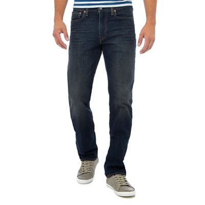 Levi's Dark blue vintage wash '514' straight fit jeans ...
