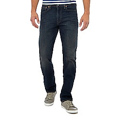Levi's - Big and tall dark blue vintage wash '514' straight fit jeans