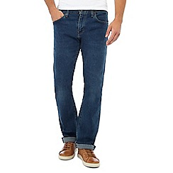 Levi's - Blue bootcut mid wash '527' slim fit jeans