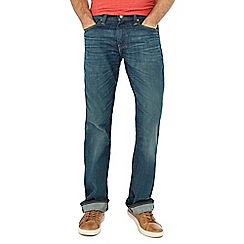 Levi's - Blue vintage wash '527' slim fit bootcut jeans