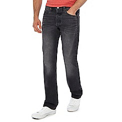 Levi's - Big and tall black mid wash '501®' straight jeans