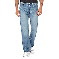 Levi's - Big and tall blue light wash '501®' straight jeans
