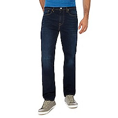 Levi's - Big and tall blue dark wash '502®' tapered jeans