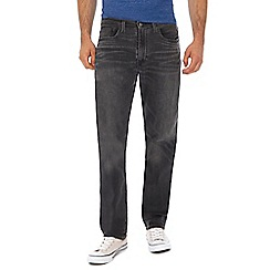 Levi's - Big and tall grey mid wash '502®' tapered jeans