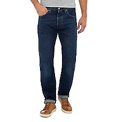 Levi's - Big and tall dark blue '501' straight fit jeans