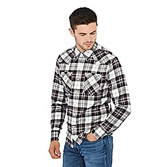 Levi's - White 'Barstow' check print western shirt