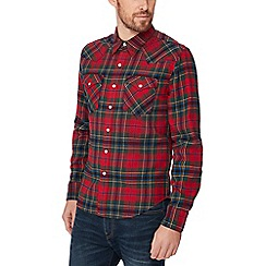 Levi's - Red check print 'barstow' long sleeve western shirt