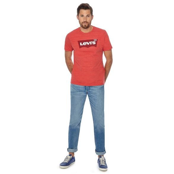logo t print shirt Levi's Red vHqU8wS