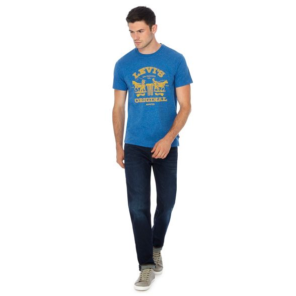 Blue Levi's logo print shirt t 1UpxUwd