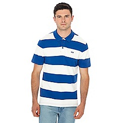 Levi's - Blue stripe print polo shirt