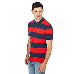 Levi's - Red stripe print polo shirt
