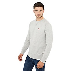 Levi's - Grey logo applique crew neck sweatshirt
