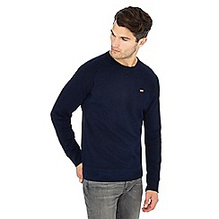 Levi's - Navy logo applique crew neck sweatshirt