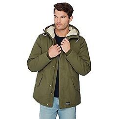 Levi's - Green Sherpa lined parka coat