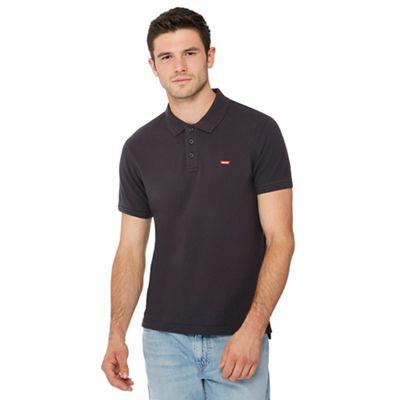 levi's black logo applique polo shirt