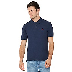 Levi's - Navy logo applique polo shirt