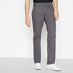 Wrangler - Big and tall grey brushed 'Texas' straight fit jeans