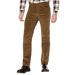 Wrangler - Tan Corduory 'Arizona' Straight Fit Trousers