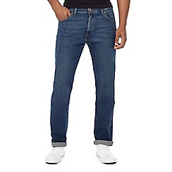Wrangler - Big and tall blue mid wash 'texas' straight fit jeans