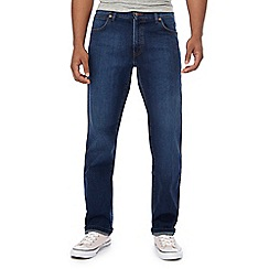 Wrangler - Blue mid wash 'Texas' water resistant straight fit jeans