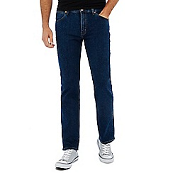Wrangler - Big and tall blue 'Arizona' dark wash straight fit jeans