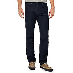 Wrangler - Big and tall dark blue dark wash 'arizona' straight fit jeans