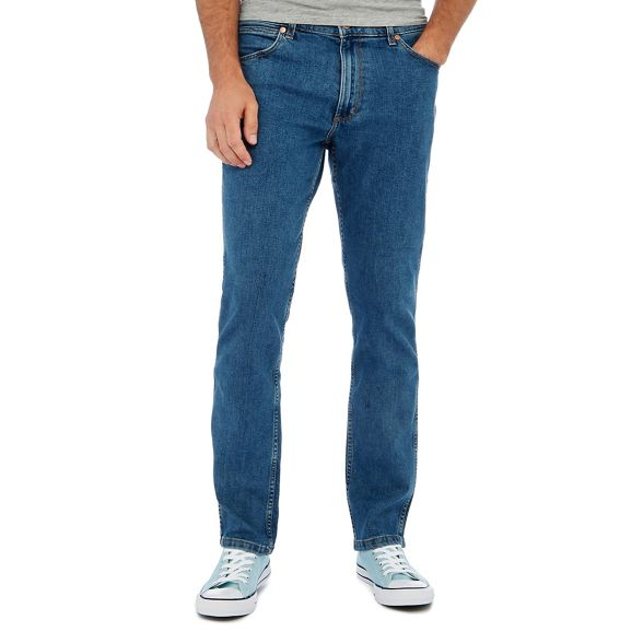 blue Light straight 'Greensboro' fit Wrangler jeans light wash pCU5xw5n8q