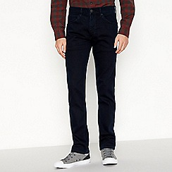 Wrangler - Big and tall dark blue dark wash 'Greensboro' straight fit jeans