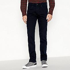 Wrangler - Dark blue dark wash 'Greensboro' straight fit jeans
