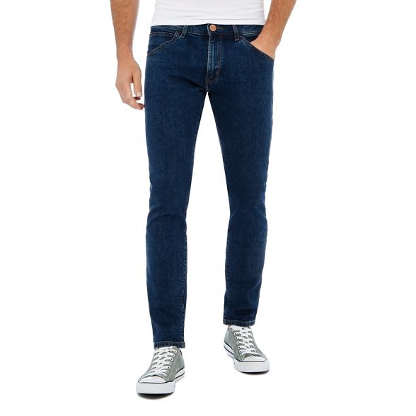 'Bryson' wash jeans mid Wrangler skinny Blue fit 5wxSWq8AC