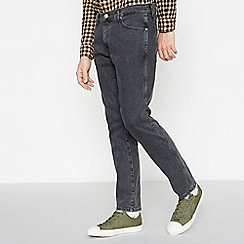 Wrangler - Grey Stone Wash 'Larston' Slim Tapered Fit Jeans