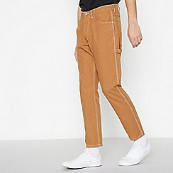Wrangler - Tan 'Carpenter Chipmunk' Loose Fit Jeans