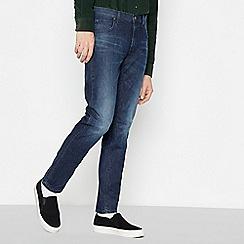 Lee - Dark Blue Mid Wash 'Darren' Slim Fit Jeans