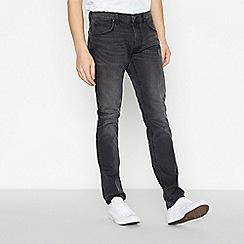 Lee - Black Mid Wash 'Luke' Slim Tapered Fit Jeans