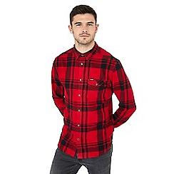 Wrangler - Red check long sleeve regular fit shirt