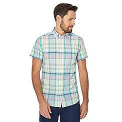Wrangler - Multi-coloured checked short sleeve regular fit shirt