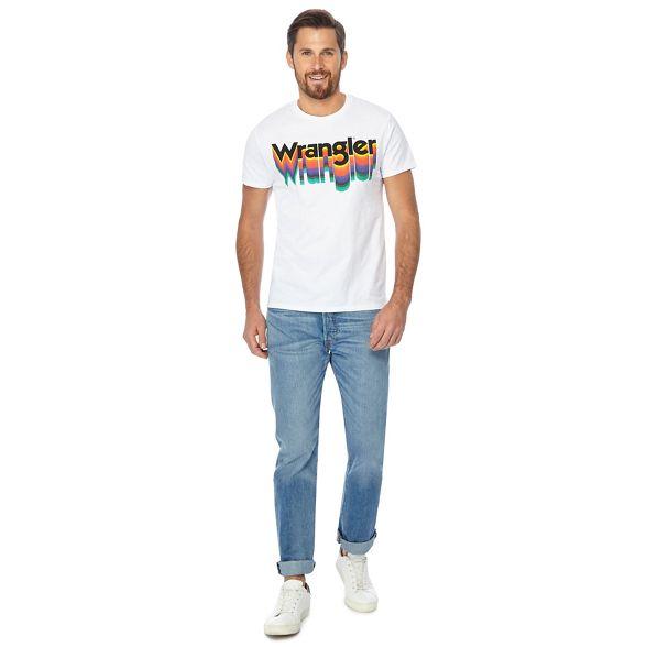 White logo print shirt t Wrangler FHqdfxq