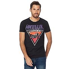 Wrangler - Black logo motorbike print t-shirt