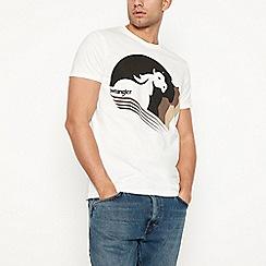 Wrangler - Off white horse logo t-shirt